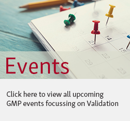 To the ECA Website's list of upcoming GMP events on validation